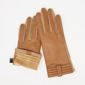 Tan Leather Gloves size S